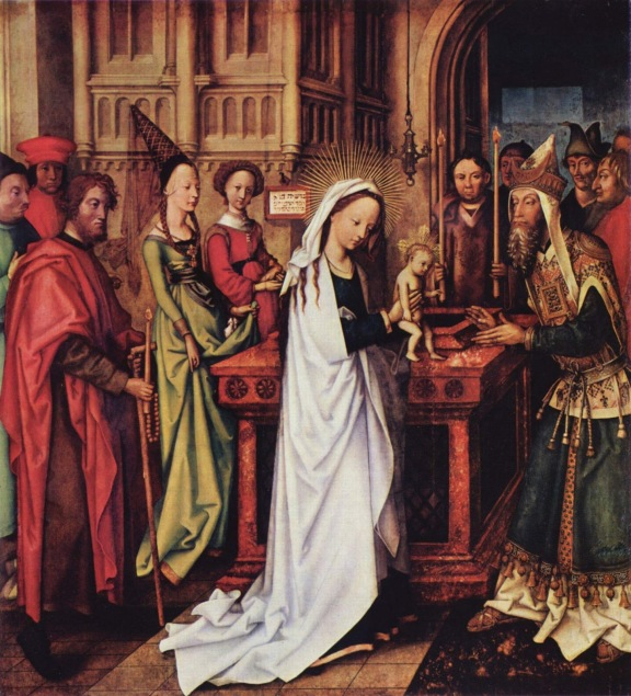 Presentation at the temple -  Hans Holbein the Elder, 1500-1501 - from Wikipedia