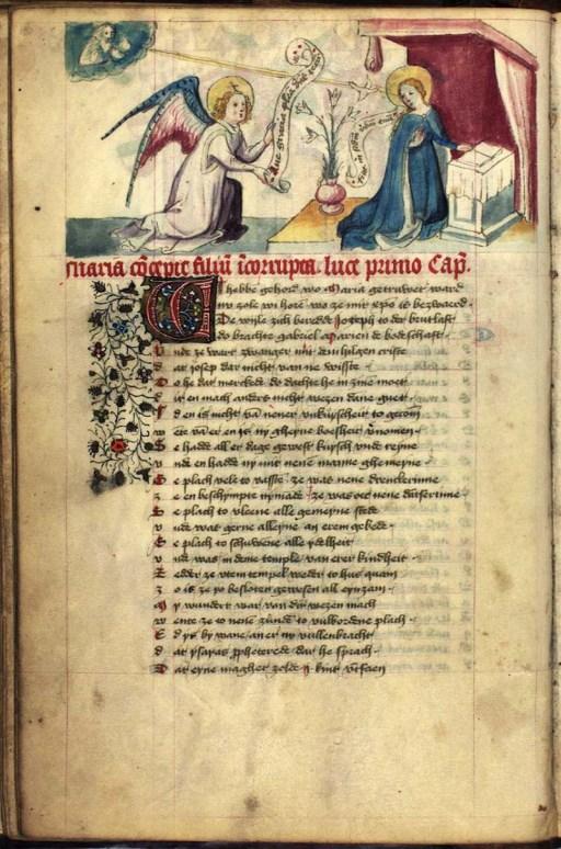 Speculum Humanae Salvationis, page 26v - from Kongelige Bibliotek Denmark