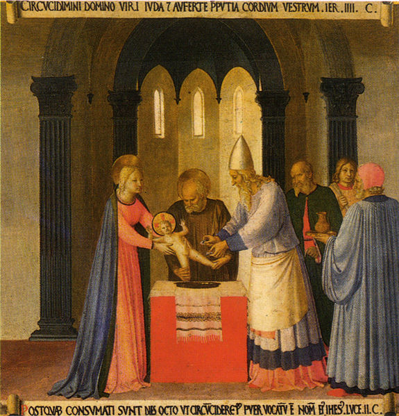 Circumcision of Christ - Fra Angelico, 1450 - from Wikipedia