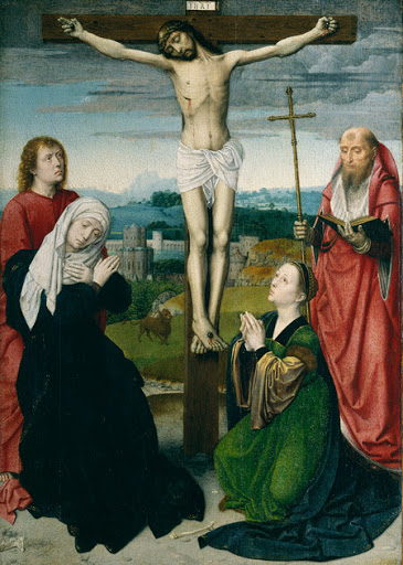 The Crucifixion, Gerard David, c. 1495 - 1500, from The Metropolitan Museum of Art