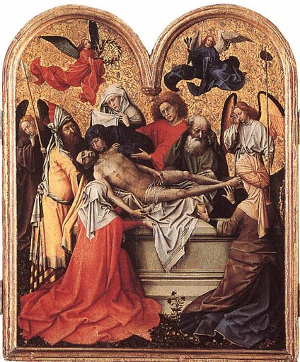 The Entombment, c. 1415, Robert Campin- from Wikipaintings