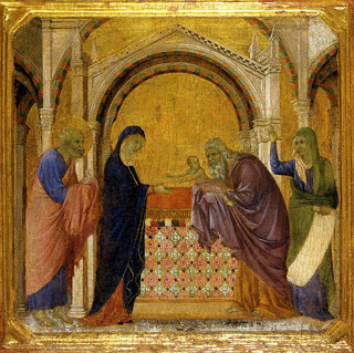 Duccio di Buonisegna, Presentation at the Temple, 14th century, from Wikipedia