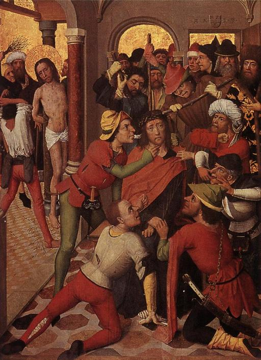 MASTER of the Lyversberg Passion,(detail) Wallraf-Richartz-Museum, Cologne, from Wikimedia Commons