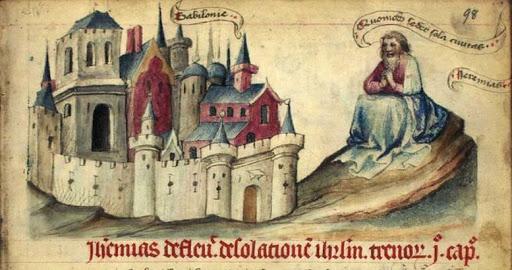 Speculum Humanae Salvationis, fol. 98r. - from Kongelige Bibliotek Denmark
