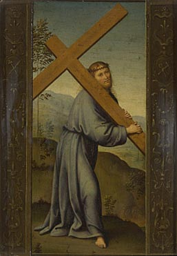 Christ carrying the Cross, c. 1500-5, attributed to Lo Spagna - from The National Gallery UK