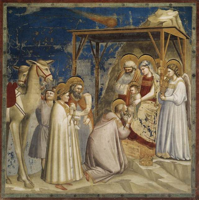 Giotto, fresco in the Scrovegni chapel, Padua - from Wikipedia