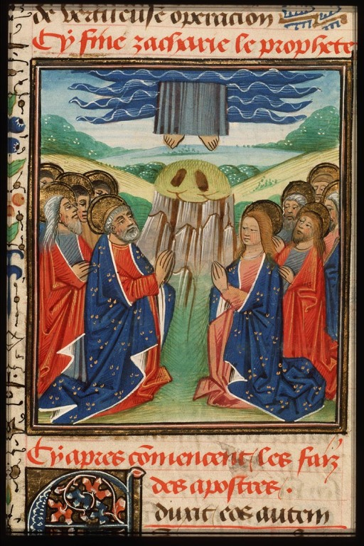 Bible moralisée, fol. 219r., Bruges; c. 1455-1460 - from Koninklijke Bibliotheek