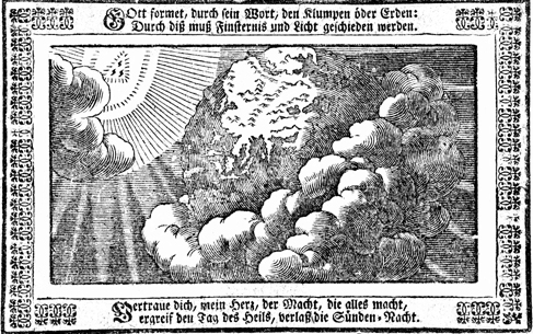 Creation, Biblia, das ist, Die ganze Heilige Schrifft dess Alten und Neuen Testaments, c. 1600, from Pitts Theology Library