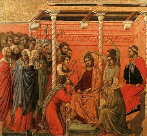 Duccio di Buonisegna -  1308-11. Tempera on wood panel. Museo dell'Opera del Duomo, Siena, Italy - from Olga's Gallery