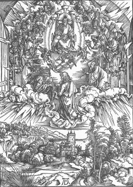 St. John and the Twenty-four Elders in Heaven, 1497-98, Albrecht Dürer, from Imagiva
