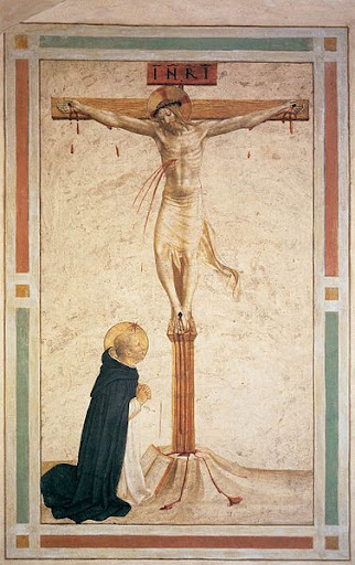 Crucifixion with Saint Dominic – Fra Angelico – WikimediaCommons