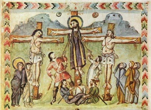 Rabbula Gospel, 6th century Syriac Gospel Book, first to mention the name Longinus – WikimediaCommons