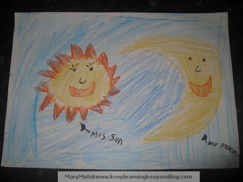7 year old Jemima's drawing - from Keep Learning, Keep Smiling
